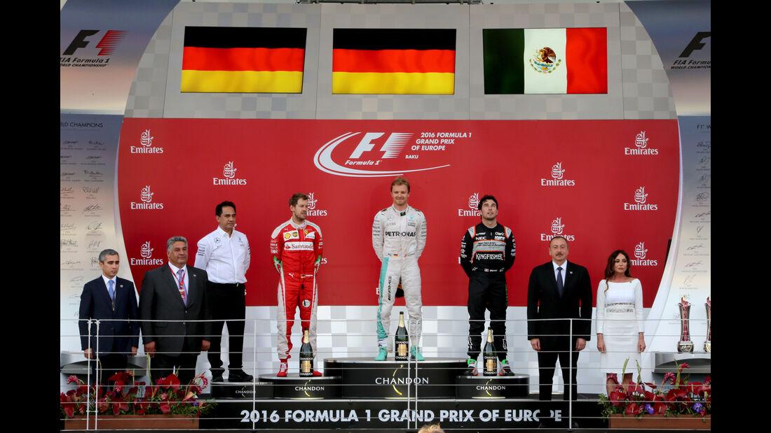 Podium - GP Aserbaidschan - Formel 1 - 2016