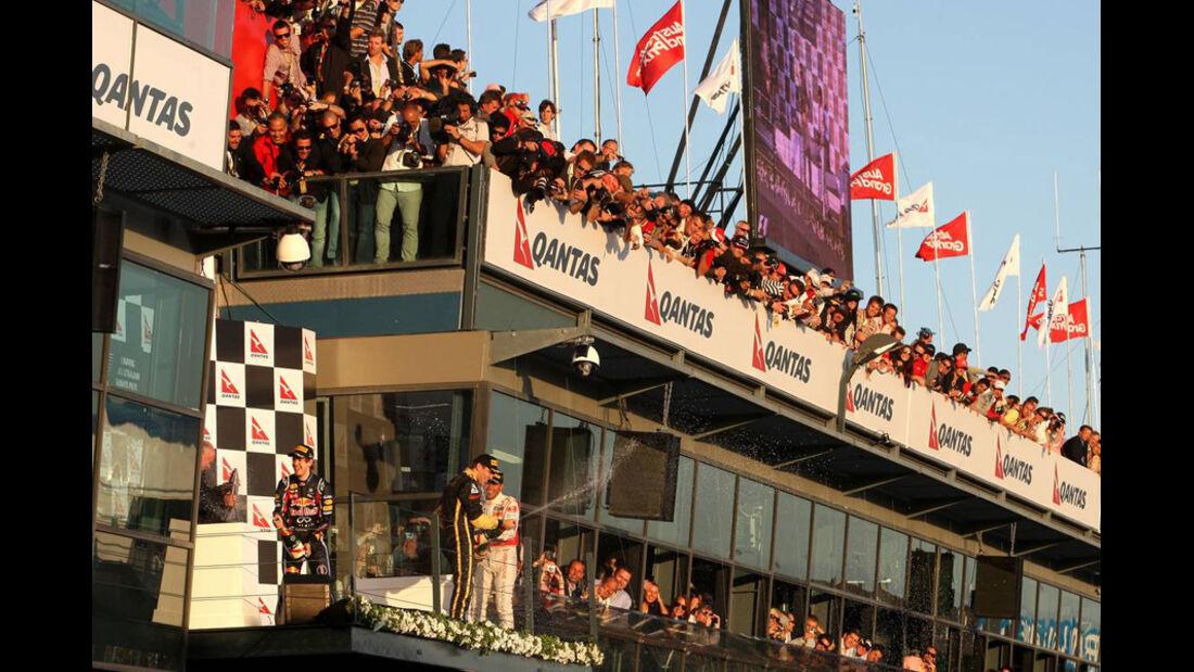 Podium GP Australien 2011
