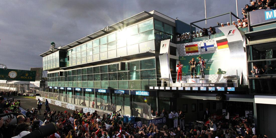 Podium - GP Australien 2013