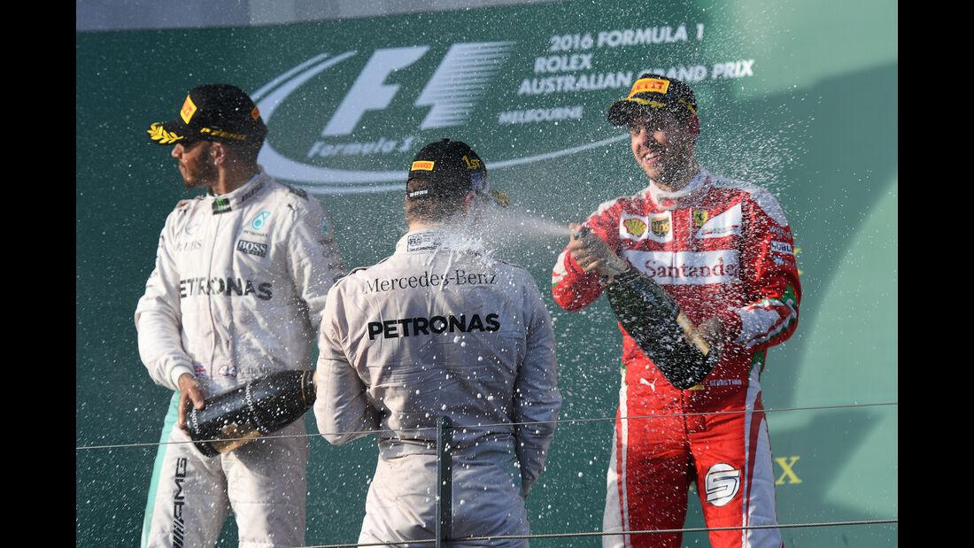 Podium - GP Australien 2016