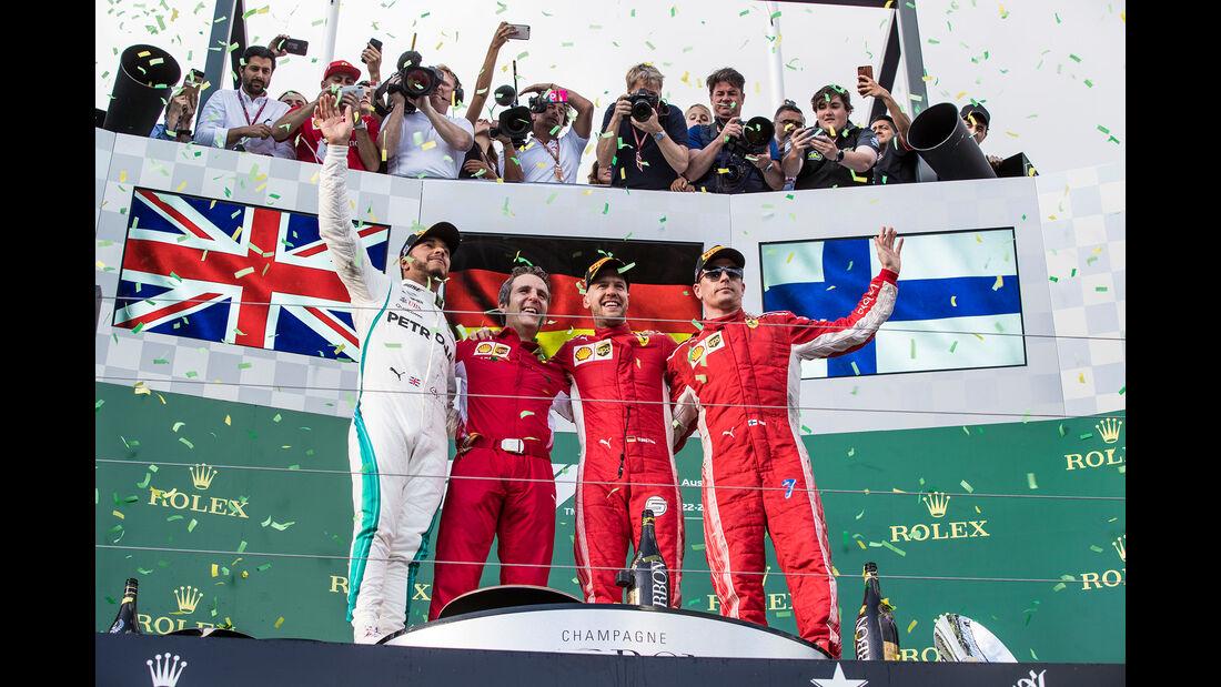 Podium - GP Australien 2018