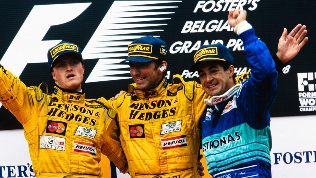Podium - GP Belgien 1998