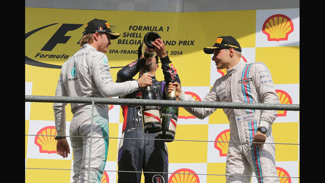 Podium - GP Belgien 2014