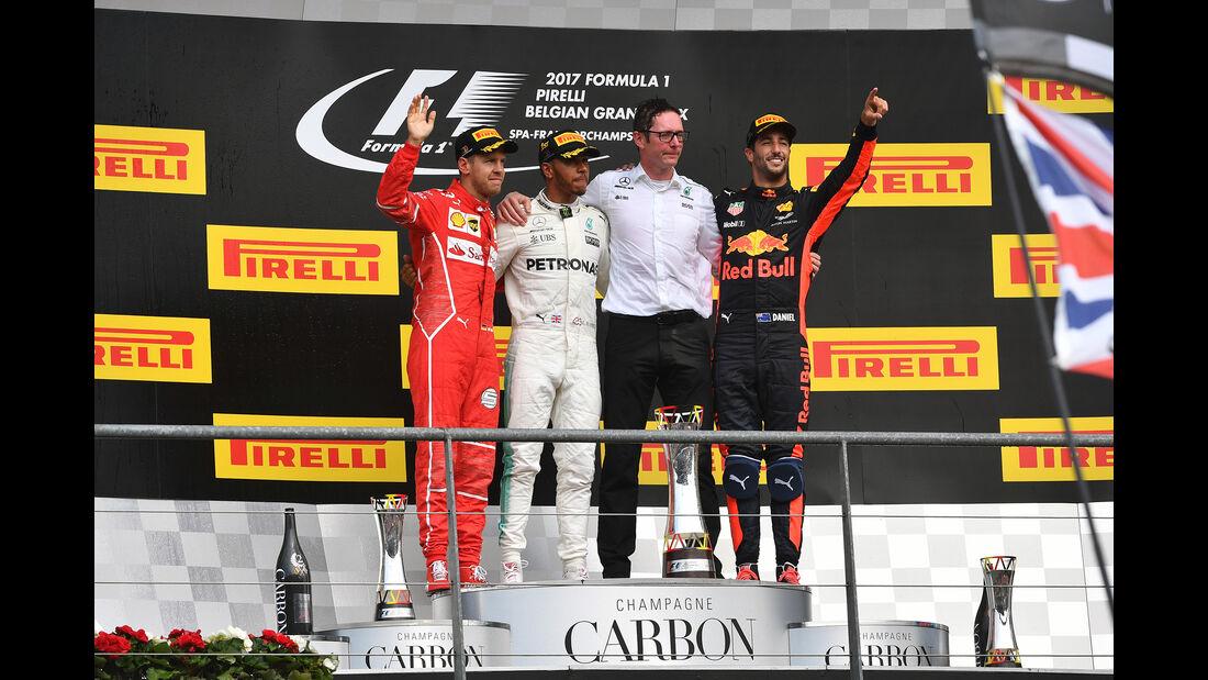 Podium - GP Belgien 2017