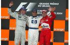 Podium - GP Brasilien 2004