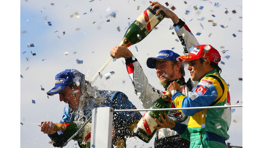 Podium - GP Brasilien 2006