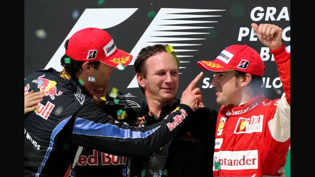 Podium GP Brasilien 2010