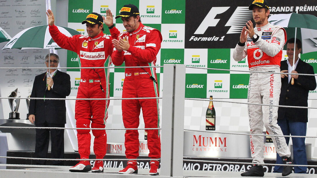 Podium GP Brasilien 2012