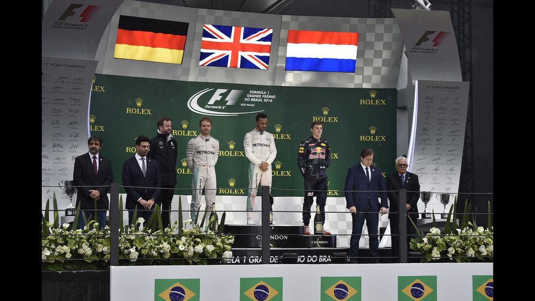 Podium - GP Brasilien 2016