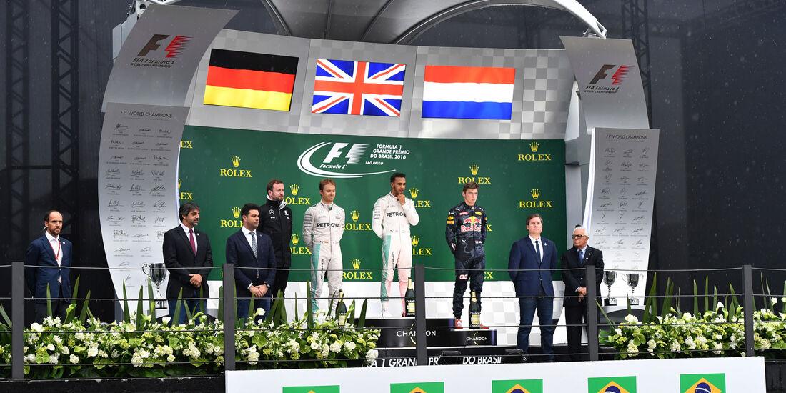 Podium - GP Brasilien 2016 - Interlagos - Rennen