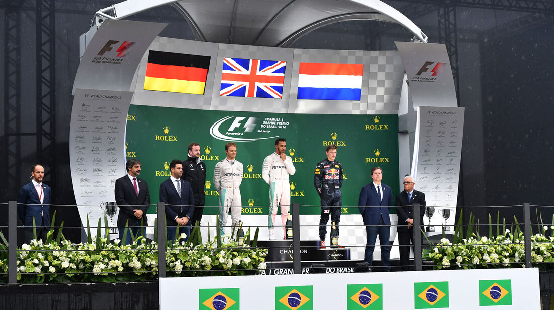 Podium - GP Brasilien 2016 - Interlagos - Rennen