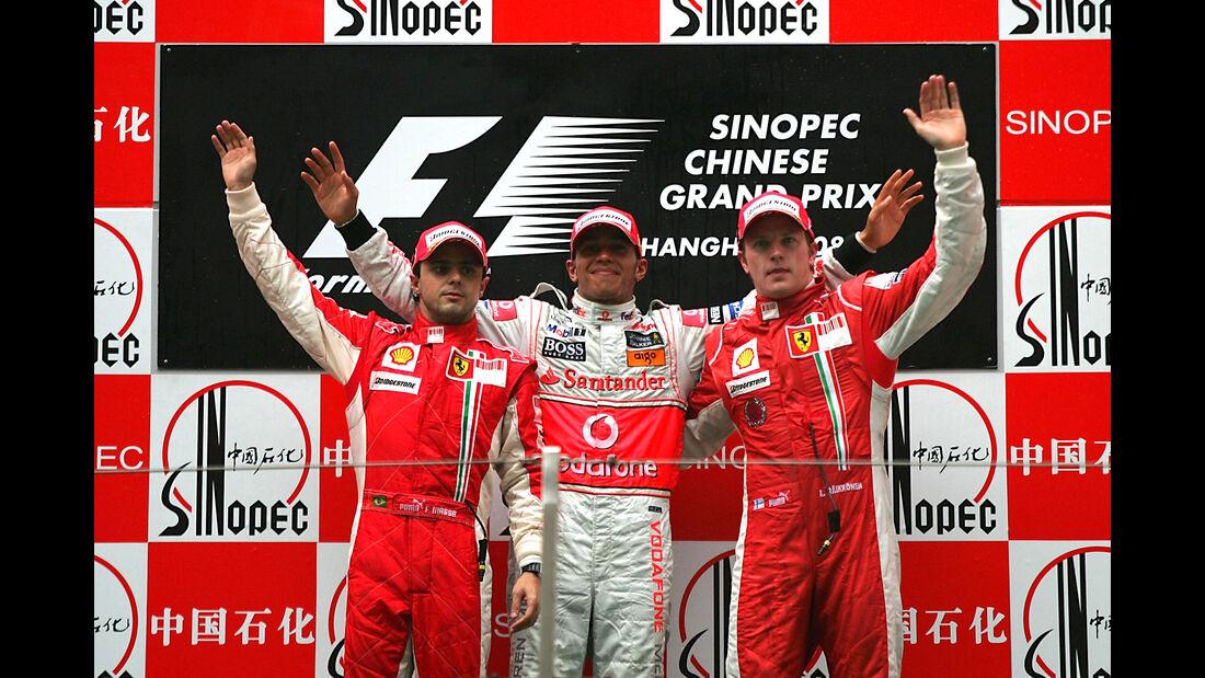 Podium - GP China 2008