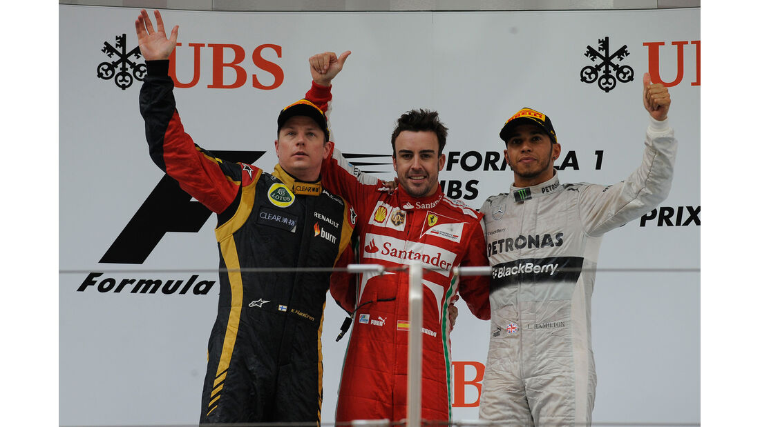 Podium GP China 2013