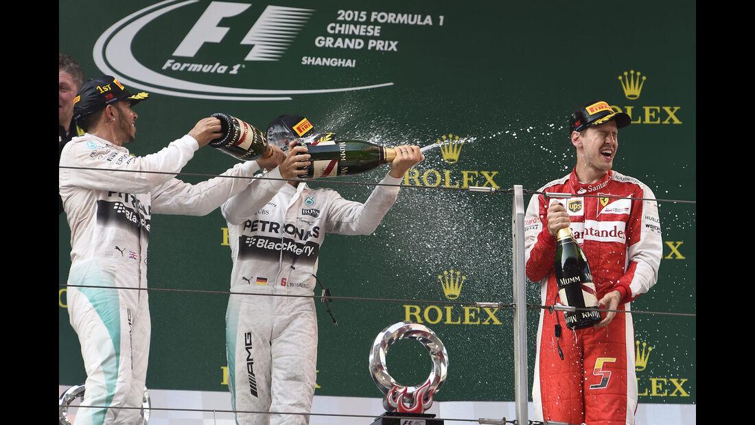 Podium - GP China 2015