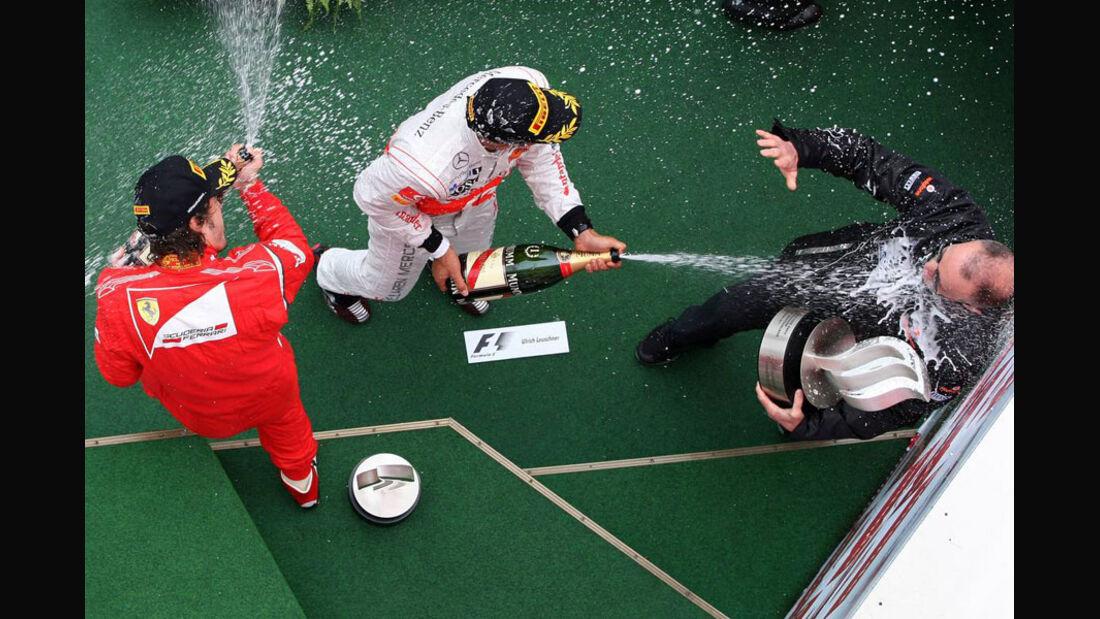 Podium GP Deutschland 2011
