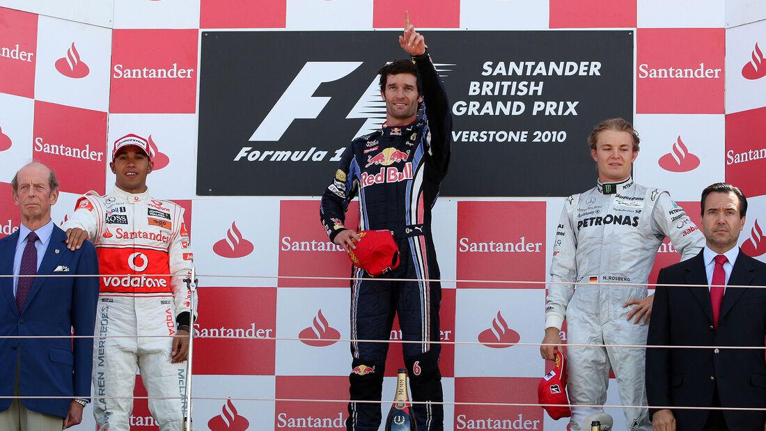 Podium - GP England - 2010