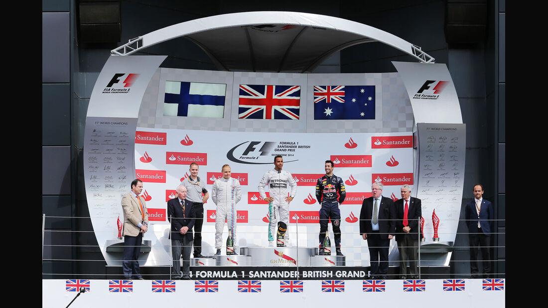 Podium - GP England 2014