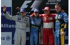 Podium GP Frankreich 2005 Schumacher, Räikkönen Alonso