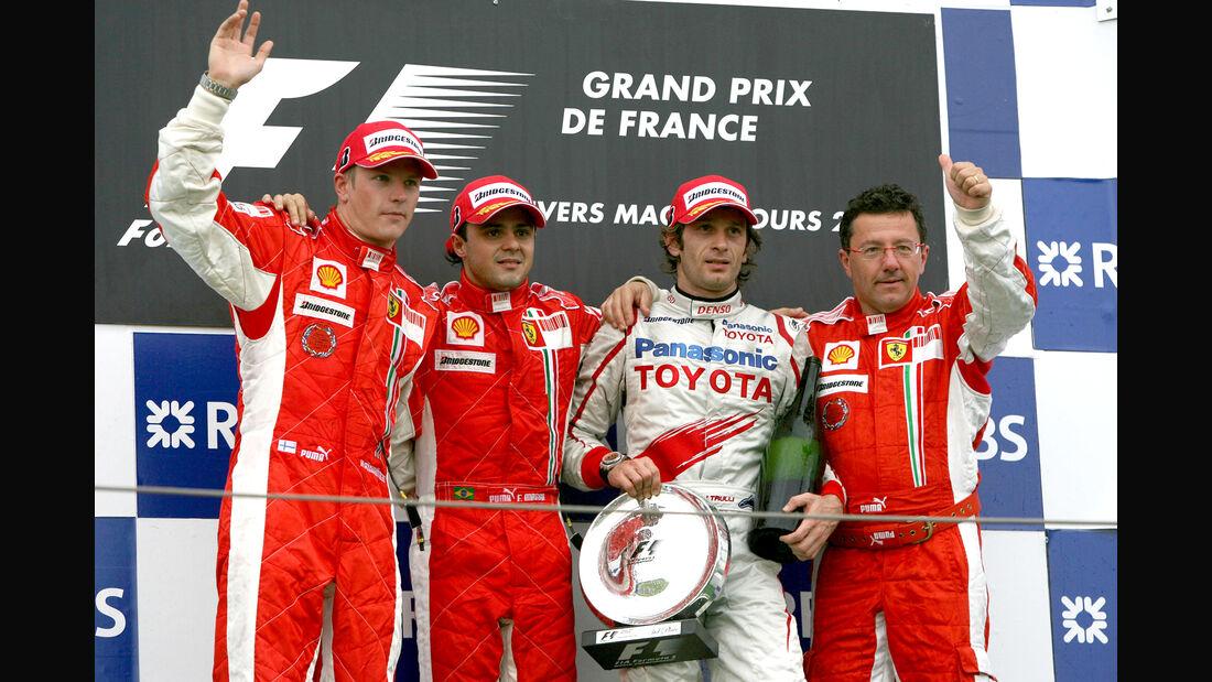 Podium - GP Frankreich 2008