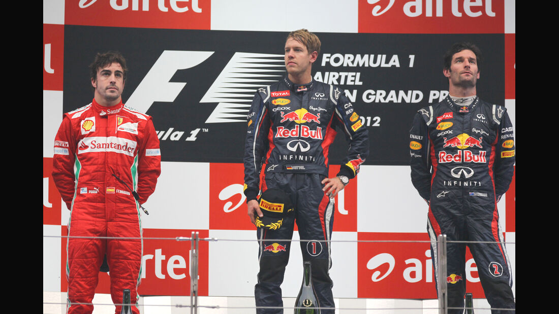 Podium GP Indien 2012