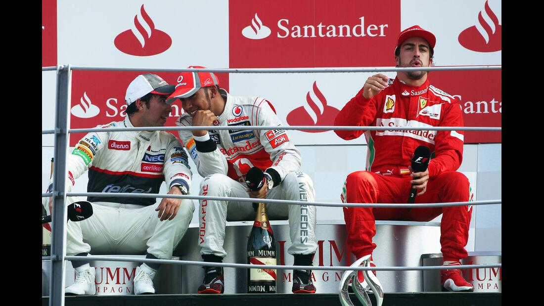 Podium GP Italien 2012