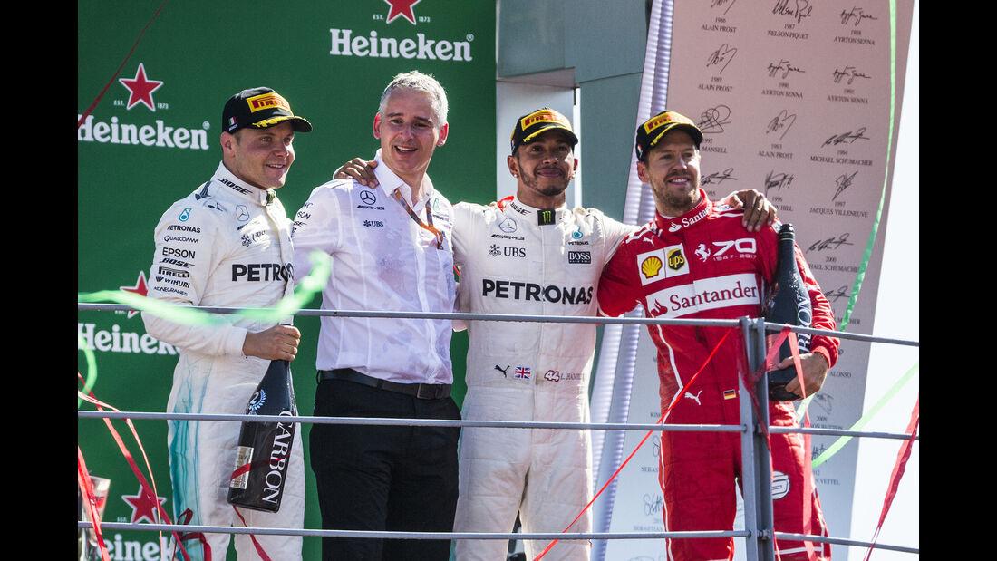 Podium - GP Italien 2017