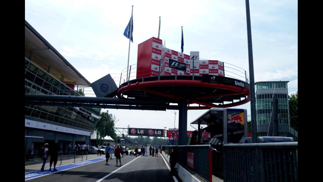 Podium - GP Italien - 8. September 2011