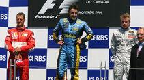 Podium GP Kanada 2006 Schumacher, Räikkönen Alonso