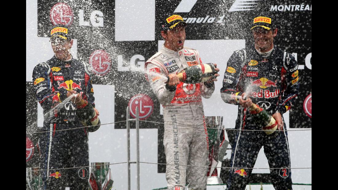 Podium GP Kanada 2011
