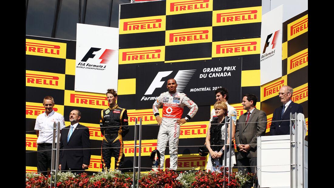Podium GP Kanada 2012