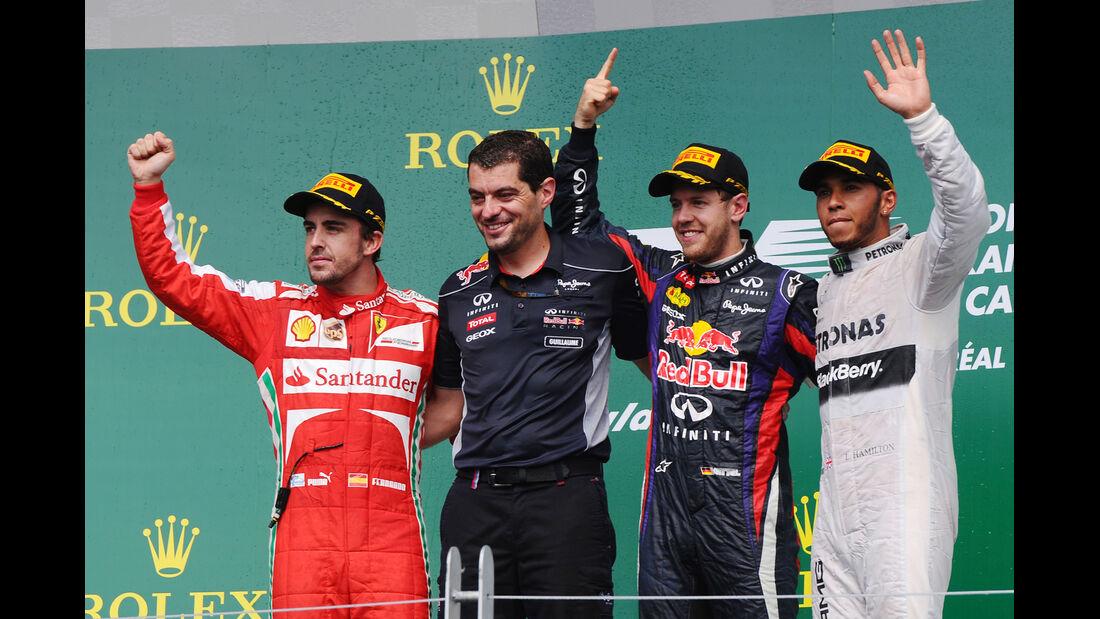 Podium - GP Kanada 2013