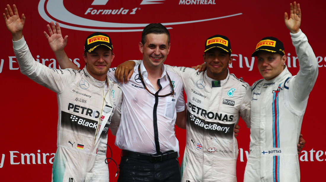 Podium - GP Kanada 2015
