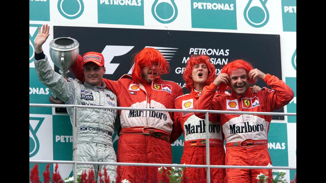 Podium GP Malaysia 2000