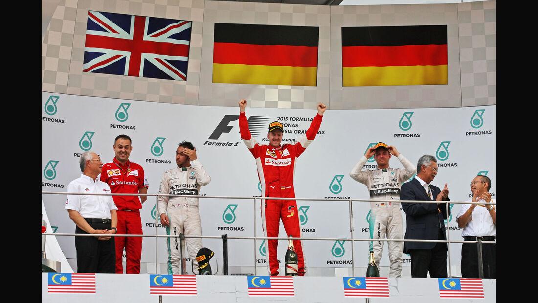 Podium - GP Malaysia 2015 - Formel 1