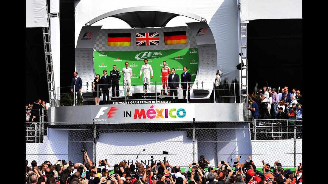 Podium - GP Mexiko 2016