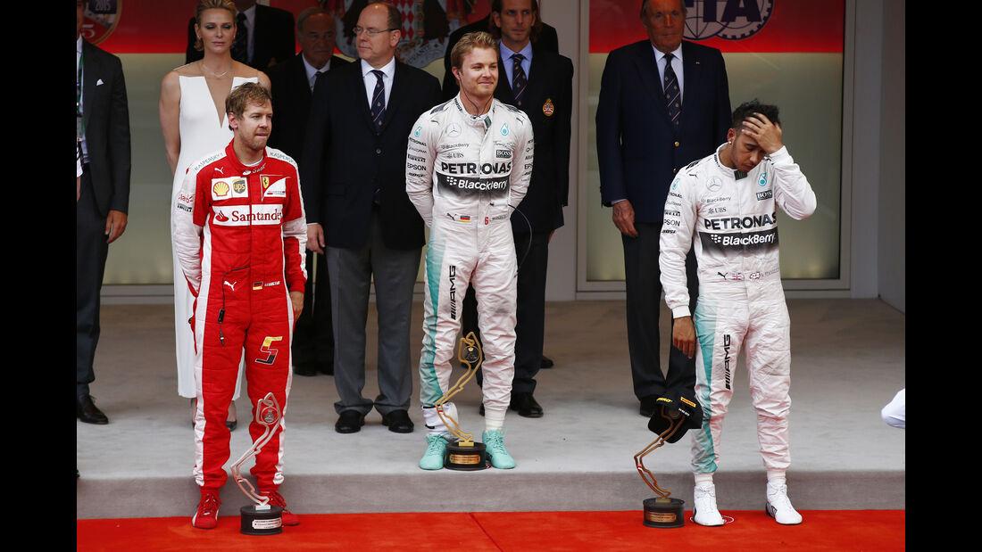 Podium - GP Monaco 2015