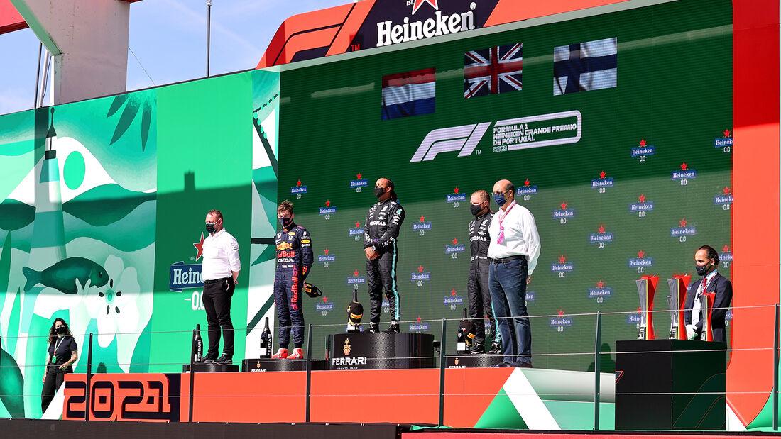 Podium - GP Portugal - Formel 1 - 2. Mai 2021