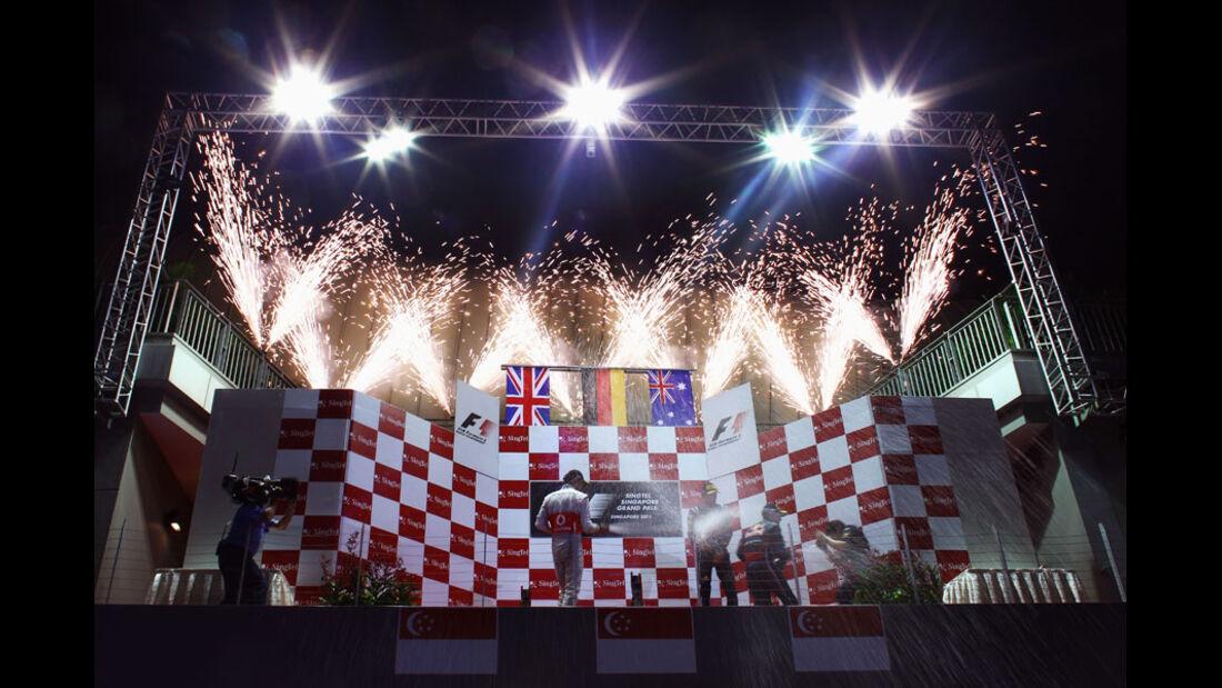 Podium GP Singapur 2011