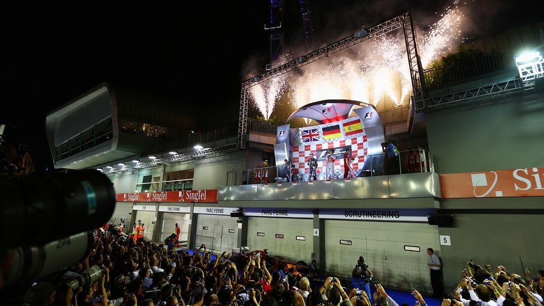 Podium - GP Singapur 2012
