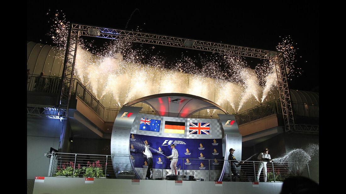 Podium - GP Singapur 2016