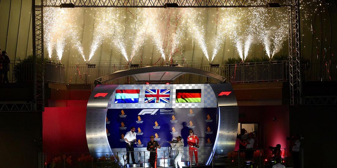 Podium - GP Singapur 2018