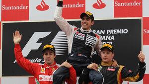 Podium GP Spanien 2012