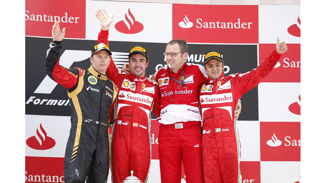 Podium GP Spanien 2013