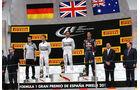 Podium - GP Spanien 2014