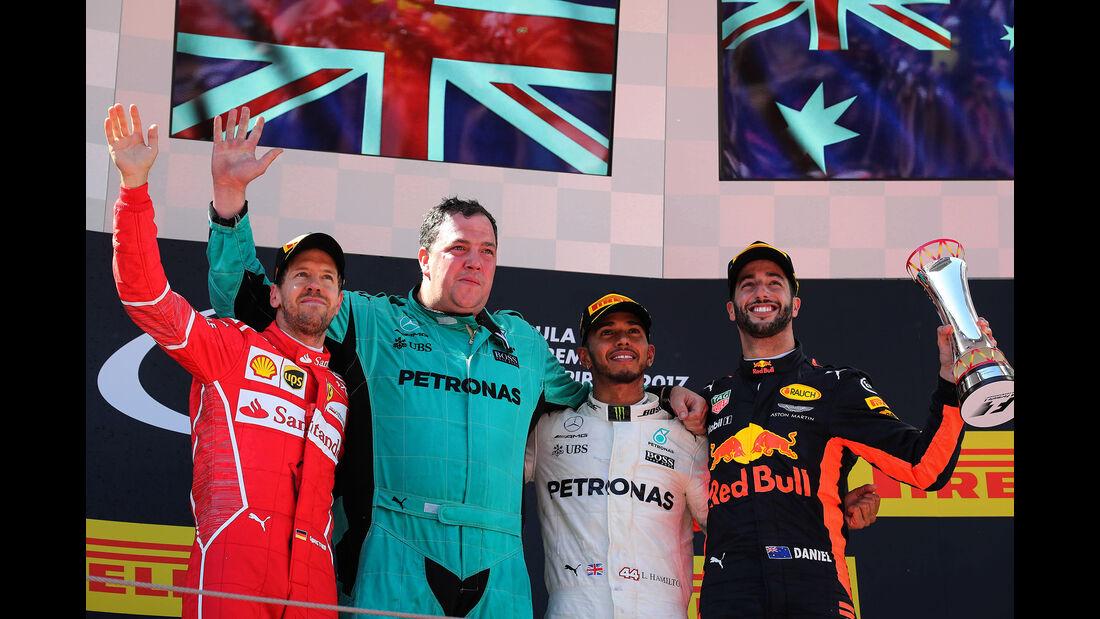 Podium - GP Spanien 2017