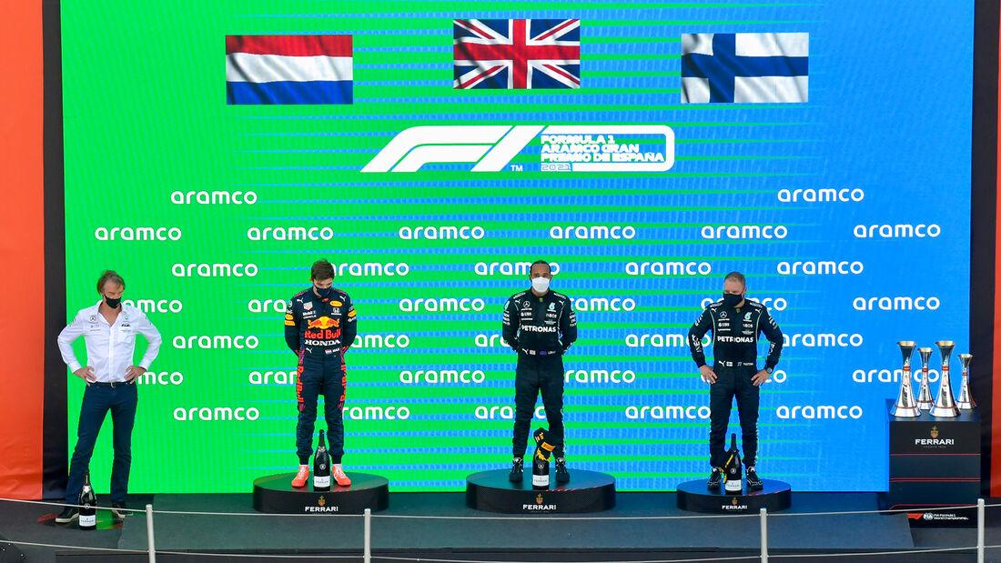 Podium - GP Spanien 2021