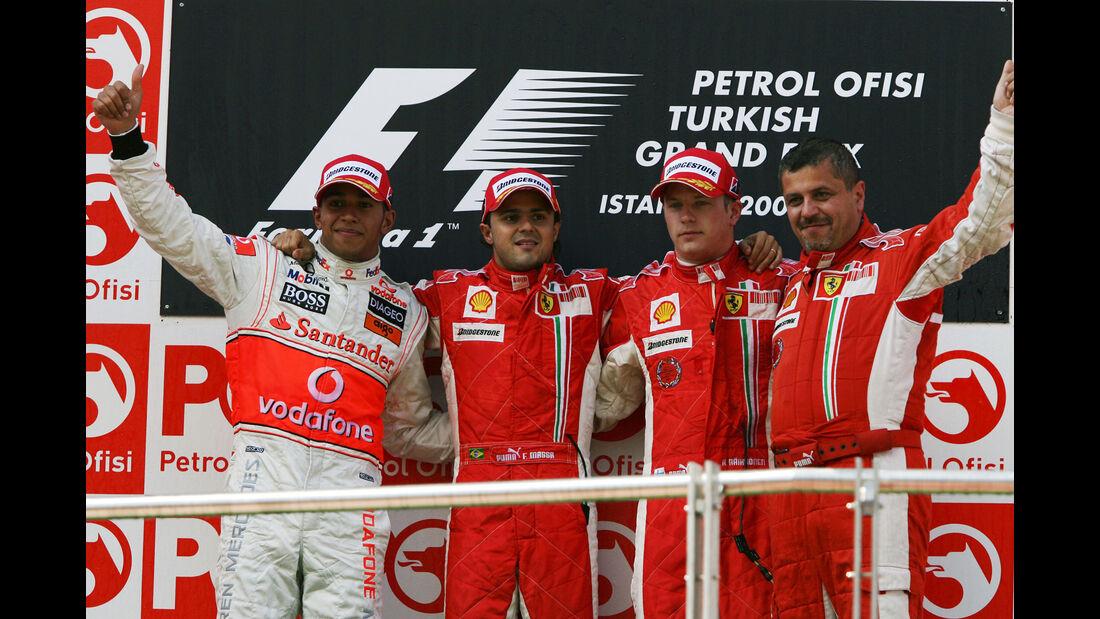 Podium - GP Türkei 2008