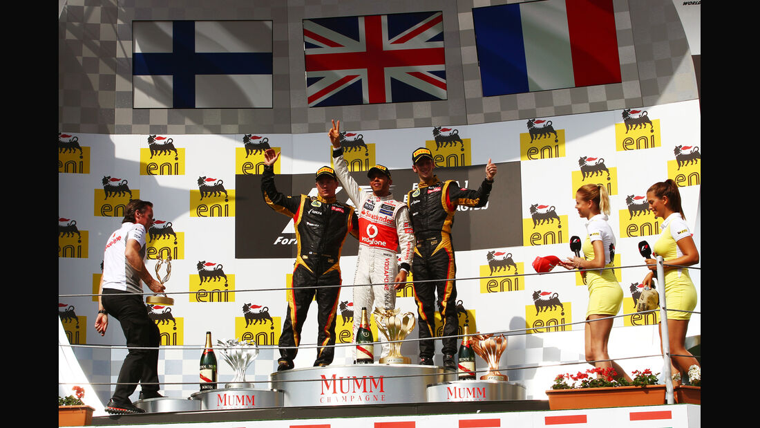 Podium GP Ungarn 2012