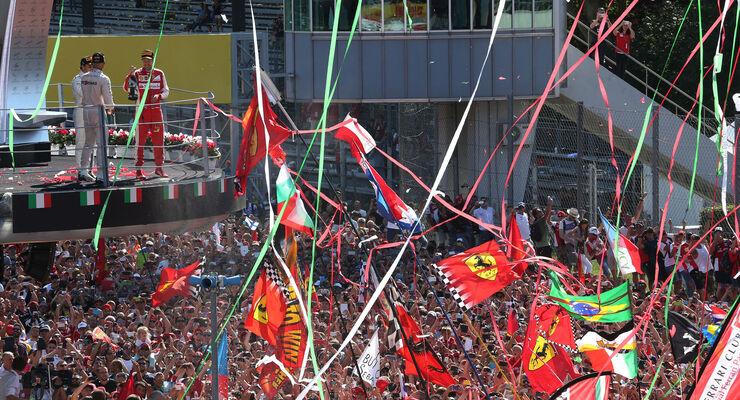 Podium - Hamilton - Vettel - Massa - GP Italien 2015 - Monza