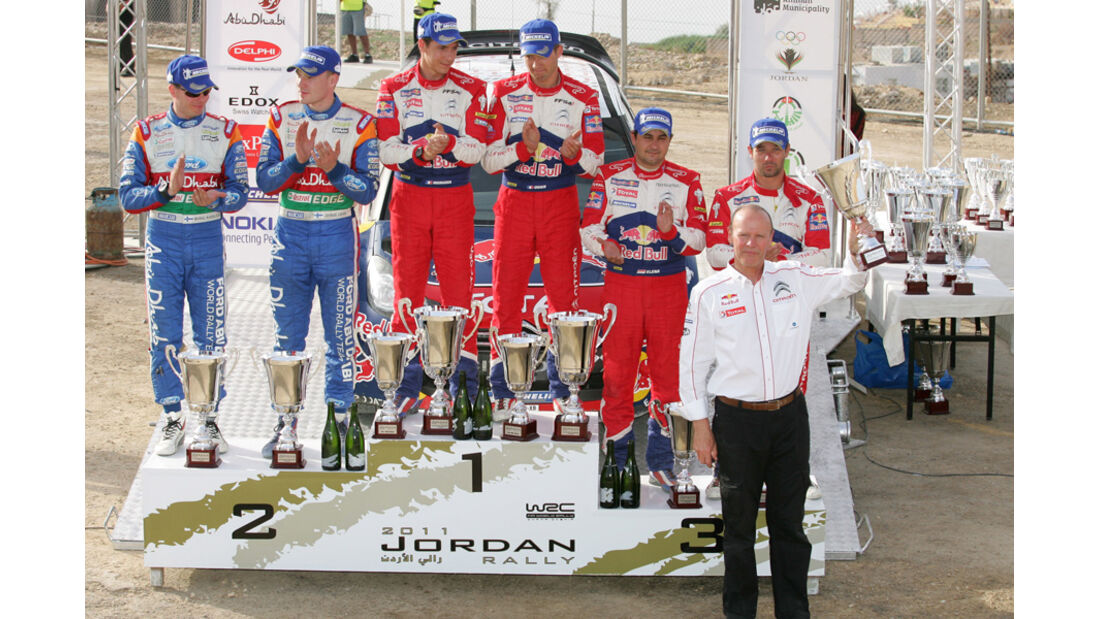Podium - Rallye Jordanien 2011